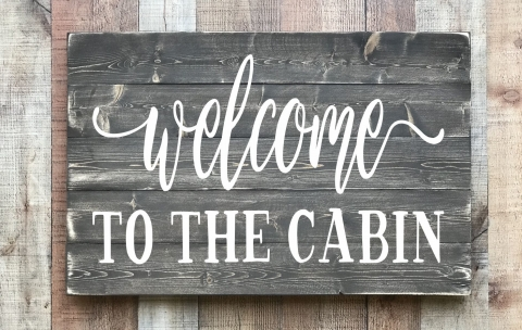 Cabin and Lake – Signs by Caitlin